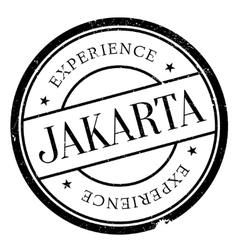 Jakarta stamp rubber grunge vector