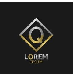 Letter Q logo vector image