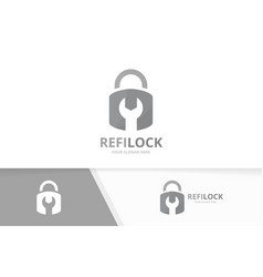 lock logo combination safe and repair vector image