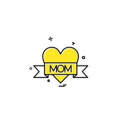 love mom icon design vector image