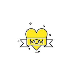 love mom icon design vector image