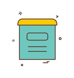mail box icon design vector image