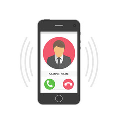 mobile phone ringing vector image