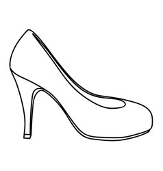 Monochrome silhouette of high heel shoe vector