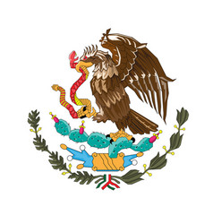 national mexico coat of arms mexico vector image