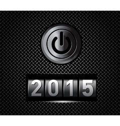 New Year counter 2015 with power button vector