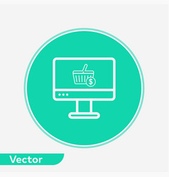 online shopping icon sign symbol vector image