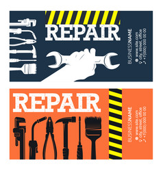 Repair and service business card for handyman vector