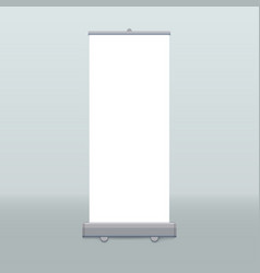 roll up banner isolated empty display vector image