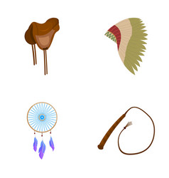 Saddle indian mohawk whip dream catcherwild vector