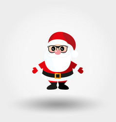 santa claus with glasses icon flat vector image