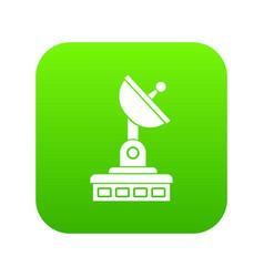 satellite dish icon digital green vector image