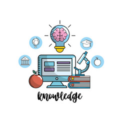 School knowledge utensils to education learn vector