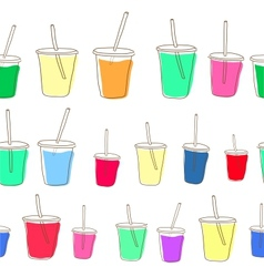 Set of milk shake Isolated on white background vector