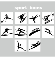 Set of winter sport icons vector