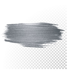 Silver paint brush stain or smudge stroke vector