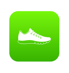 sneakers icon digital green vector image