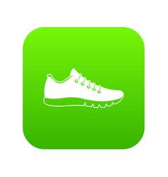 sneakers icon digital green vector image