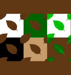 Tobacco leaf seamless pattern vector