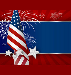 Usa background design american flag for 4 july vector
