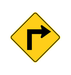 usa traffic road signssharp bend or turn in the vector image
