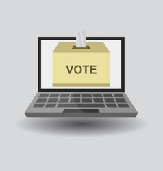 Vote online in on white background vector