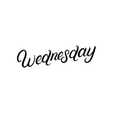 wednesday hand written lettering vector image