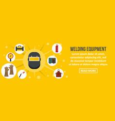 Welding equipment banner horizontal concept vector