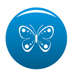 wild butterfly icon blue vector image