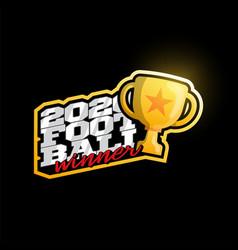 Winner 2020 football logo modern professional vector