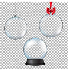 xmas balls set with transparent background vector image