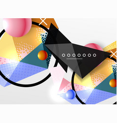 color geometric abstract composition vector image vector image