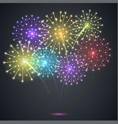 firework festive explosion vector image vector image