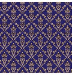 Seamless Damask Wallpaper 2 Blue Color vector image