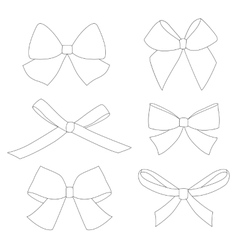 Set of graphical decorative bows vector image