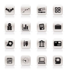 simple business and office icons vector image vector image