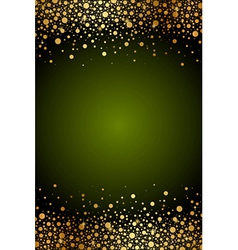 green frame with gold confetti vector image
