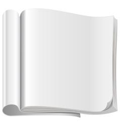 Template white open magazine vector image vector image