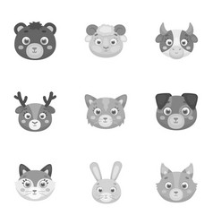wild and domestic animals a set of pictures about vector image