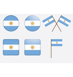 badges with flag of Argentina vector image vector image