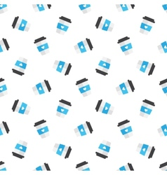 flat coffee cup seamless pattern vector image vector image