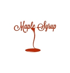 Maple Syrup Logo Sign Design Background vector image vector image