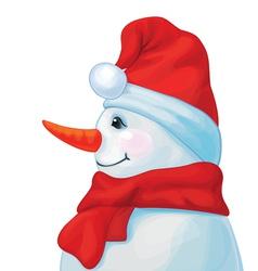 snowman profil vector image