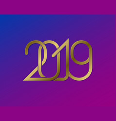 2019 happy new year greeting card design vector