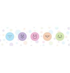 5 underwear icons vector