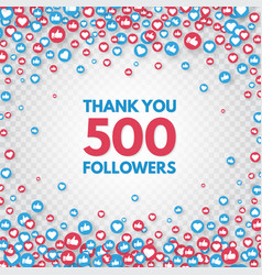 500 followers thank you banner celebrate new vector