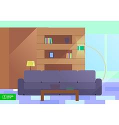 Abstract flat interior design vector