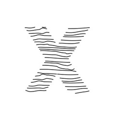 Abstract line initial x vector