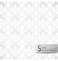 Abstract seamless pattern lotus floral mesh white vector