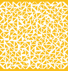 abstract yellow triangles random pattern on white vector image